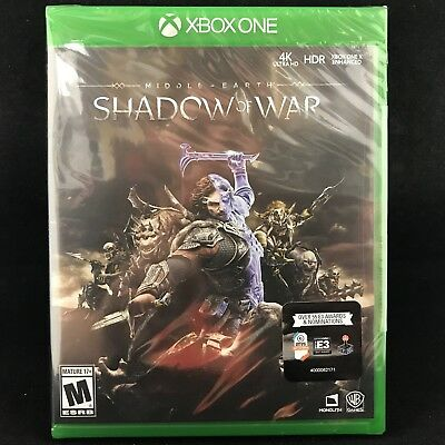 MIDDLE EARTH : Shadow of War (Xbox One) BRAND NEW / Region Free