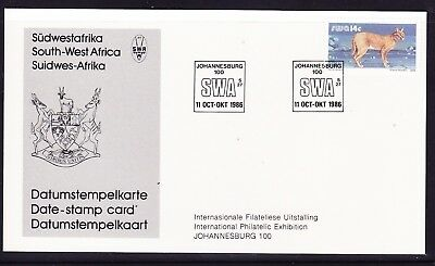 South West Africa  1986 International Exhibition Card