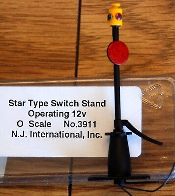 O On3 Switch Stand Star Type #3911 Operation 12v N.J. International