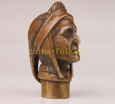 Bronze Great Historic Cane Walking Stick Head Handle Collection