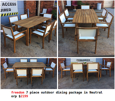 freedom 7 piece outdoor dining package in Neutral orp $2199