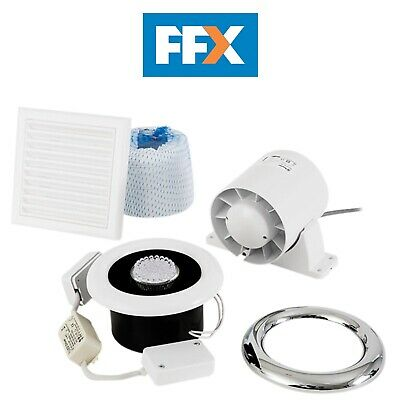 Xpelair 93291AW Airline LED Shower Fan Kit With Timer 100mm