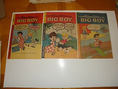 Adventures of the Big Boy #92 98 112 1964-66 Giveaway Comics Unused Shoney's FN