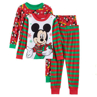 Disney Mickey Mouse Christmas Pajamas Size 2T 3T 4T New!