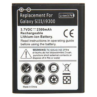 New High Quality Replacement Battery for Samsung Galaxy SIII S3 i9300 2300mah
