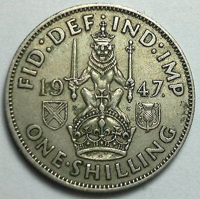 1947 Great Britain 1 Shilling  coin, UK