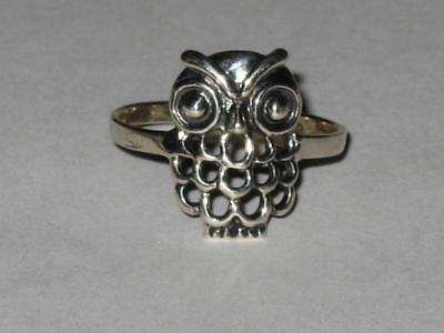 Owl Ring 925 6 Coven Witch Estate GREATER KNOWLEDGE WISDOM CLARITY FOCUS Amulet