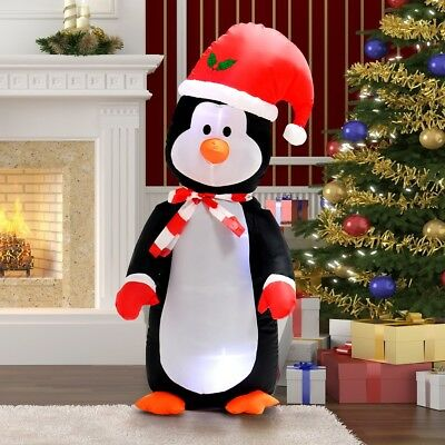 4 ft large waterproof inflatable penguin christmas decoration lawn yard outdoor