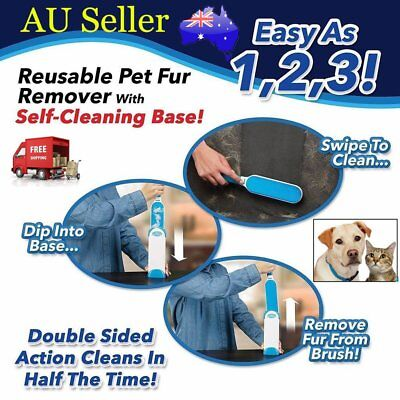 Hurricane Fur Wizard Pet Fur & Lint Remover Travel Size Hair Cleaner Brusher Hot