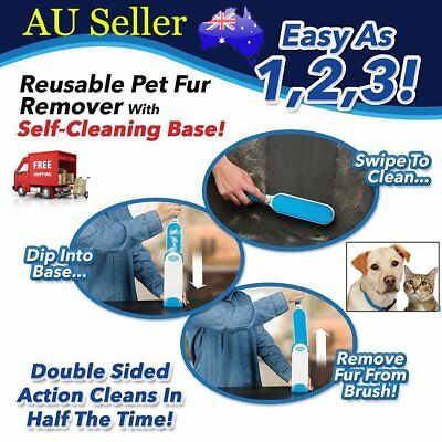 Hurricane Fur Wizard Pet Hair & Lint Remover Magic Cloth Fabric Brusher AU STOCK