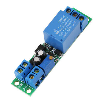 DC12V Adjustable Signal Trigger Turn Off Timer Delay Off Switch Relay Module DH
