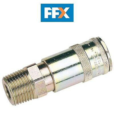 "DRAPER 51410 1/2"" BSP Taper Male Thread Vertex Air Coupling (Sold Loose)"