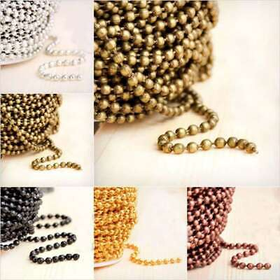4m 13.12feet Unfinished Ball Chain Bulk Necklace Jewelry Making Findings DIY HC