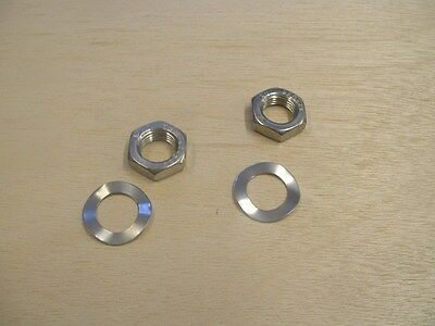 "Lambretta  Rear Shocker  Nuts & Washers  ""stainless Steel"" -   New"