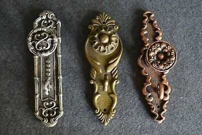 Decorative Antique Resin Door Knob Key In Lock Wall Hooks Set Of 3