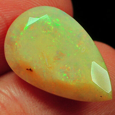 5.25CT 100% Natural Ethiopian Welo Opal Faceted Cut Play Of Color QOL8426