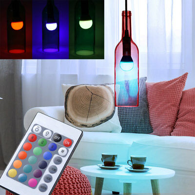 led flaschen h nge lampen wohn zimmer rgb fernbedienung decken dimmer leuchten eur 14 90. Black Bedroom Furniture Sets. Home Design Ideas