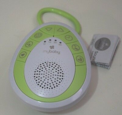 MyBaby SoundSpa On-The-Go Sound Machine, Green, Small - New without Box