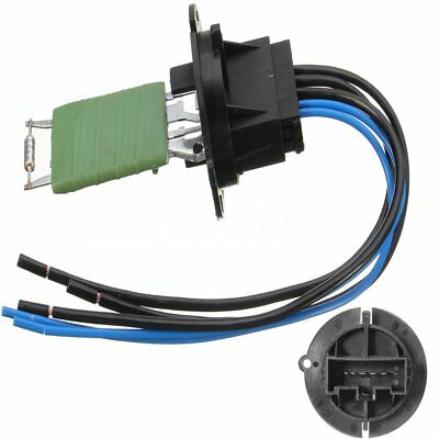 Heater Motor Resistor Connector W/ Wiring Harness For Peugeot 206 307 Citroen C3