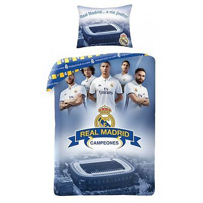 Real Madrid Cf Champions Single Duvet Cover Set Reversible Ronaldo Free P+P