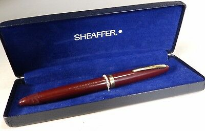Vintage 1950s Australian Sheaffer Admiral Fountain Pen in Box