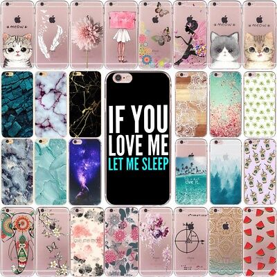 Fashion New Patterns Soft TPU Phone Case Cover For iPhone X 8 7 6 6S Plus 5S 5