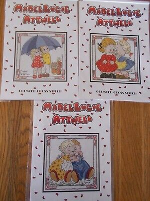 Cross stitch Charts Mabellucie Atwell 3 Charts assorted designs New