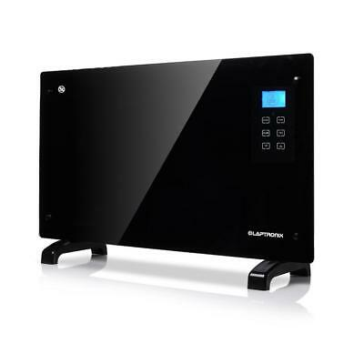 Touch Panel Portable Convection Heater 2000W Black Glass Wall Mounted Free Stand