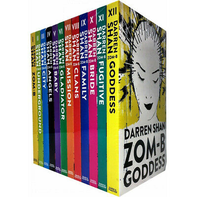 Zom-B 12 Books Collection Set Pack By Darren Shan Goddess,Angels,Clans,Baby NEW