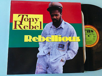 LP   USA 1992 NM  Tony Rebel ‎– Rebellious Label: RAS Records Inc. ‎– RAS 3097 F