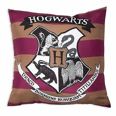 OFFICIAL HARRY POTTER MUGGLES CUSHION SCHOOL CREST CHILDRENS 40cm x 40cm