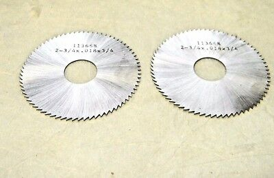 """Slitting and Slotting Saw 2-3/4"""" x 0.018"""" x 3/4"""" 72 Tooth Qty 2 OSPEC3670"""