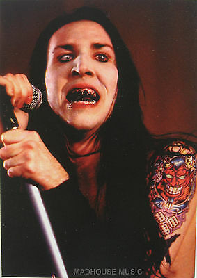 MARILYN MANSON Postcard UK 'Tattoo 'Official 1990's PYRAMID Posters PC8314 Mint