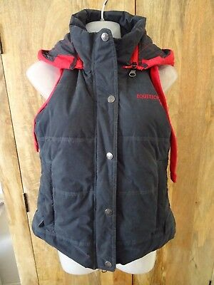 Lovely Equetech padded gilet/ body warmer, vgc,size XS - 8 - 10