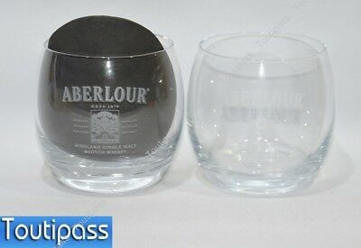 ABERLOUR whisky Ecosse 2 verres dégustation rond NEUF