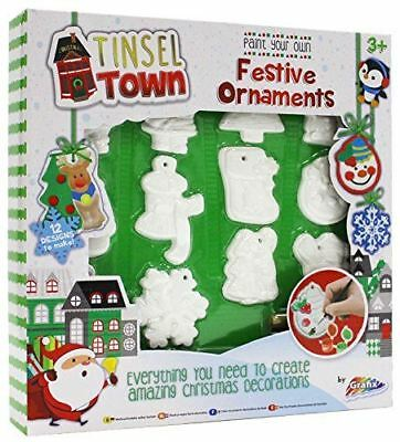 Paint Your Own Christmas Tree Bauble Decoration Ornament Set Kids Art Craft Toy