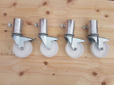 "Set of fourHeavy Duty  scaffold castors to fit any size tower up to 2""  (50mm)"