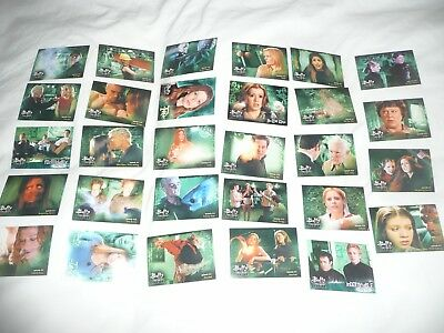 ( LOT 14 ) 29 different trading cards from tv series BUFFY THE VAMPIRE KILLER