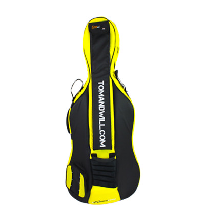 Tom and Will 1/2 Size Cello Bag - Black & Yellow