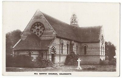 CALDECOTE All Saints Church, RP Postcard by Elphick Postally Used 1930