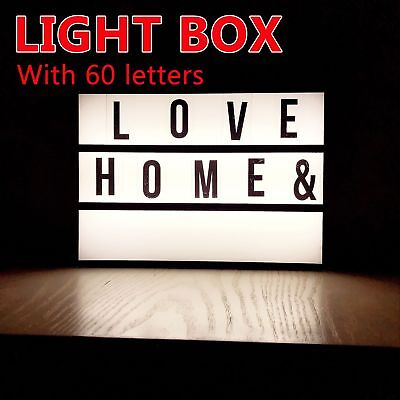 A4 Display Sign Board LED Cinematic Light Box 60 letters Wedding As Seen On RT