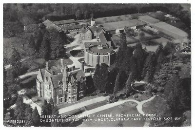 CLAPHAM PARK Beds, Provincial House, Daughters of Holy Ghost, Aerial RP Postcard
