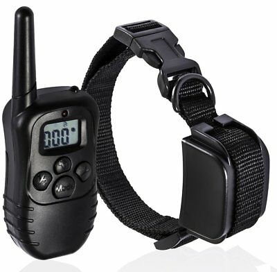 LCD Electric 100LV Levels Shock Vibra Pet Dog Training Remote Control E-Collar
