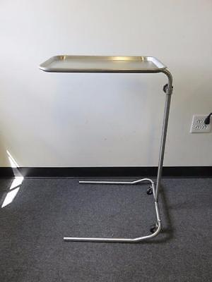 """Stainless Steel Rolling Surgical Instrument Tray / Mayo Stand 13"""" x 19"""" (B)"""