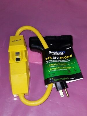 NEW TRC 2-Ft GFCI Tri-Cord Weather Resistant Heavy Duty 12/3AWG 120V/15A!