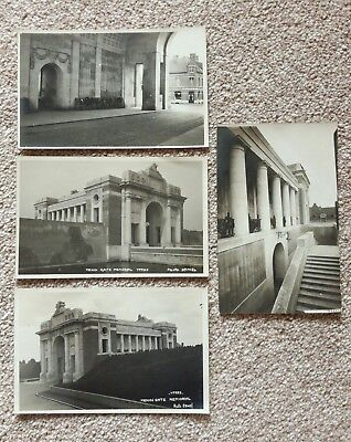 4 X YPRES, BELGIUM early Photo Daniel real photo postcards
