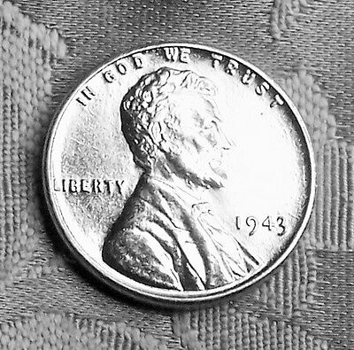 1943 P Lincoln Wheat Cent ( zinc- coated steel )  ( REPROCESSED) ( ONE COIN )