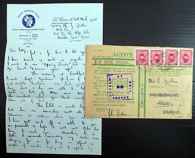 EGYPT 1941 Army Post Active Mail Envelope Censor to England with SEE BELOW AH512