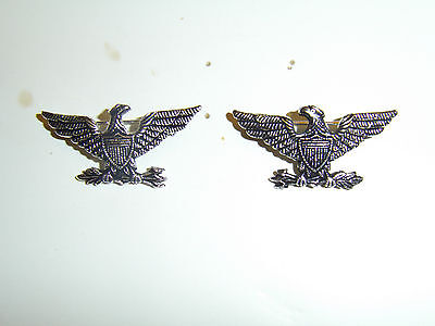 b8816p WW1 US Army Colonel Eagle and Arrows Silver left and right pair IR30B