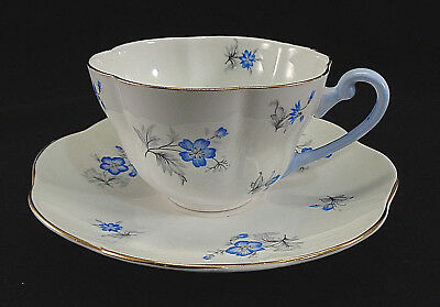 Vintage Shelley China Blue Charm Cup and Saucer Vintage